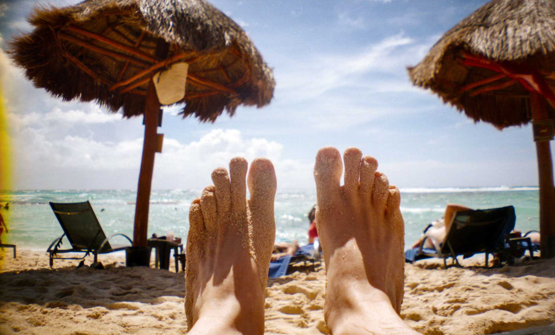 my feet and the ocean